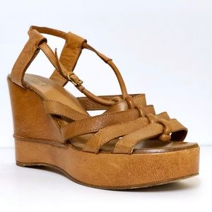 Authentic - Chloé Genuine Leather Wedge Sandal